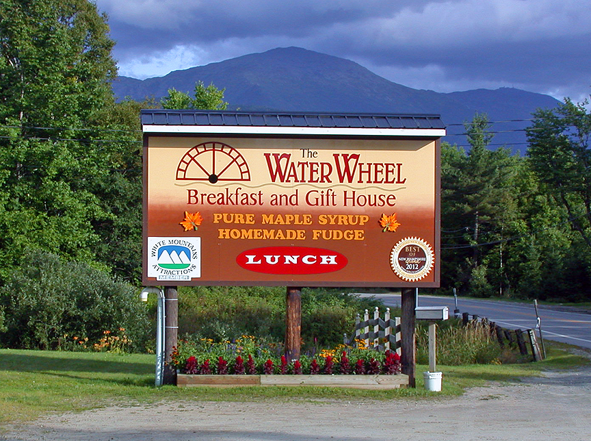 Water Wheel Sign